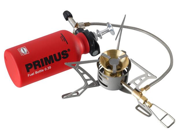 Primus OmniLite Ti Friluftskök incl. Fuel Bottle grå/röd